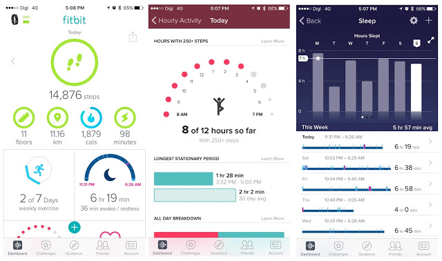 Fitbit app for fitness and health tracking