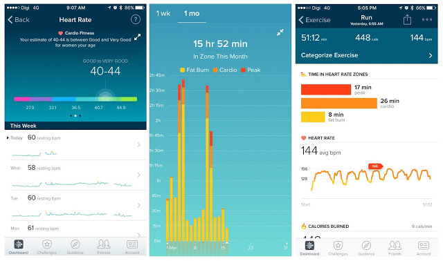 Fitbit charge 2 heart rate and fitness data