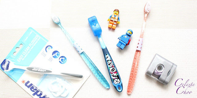 flossing and brushing teeth