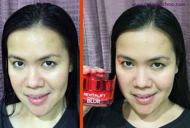 skincare-loreal-paris-magic-blur-moisturizer-on-face