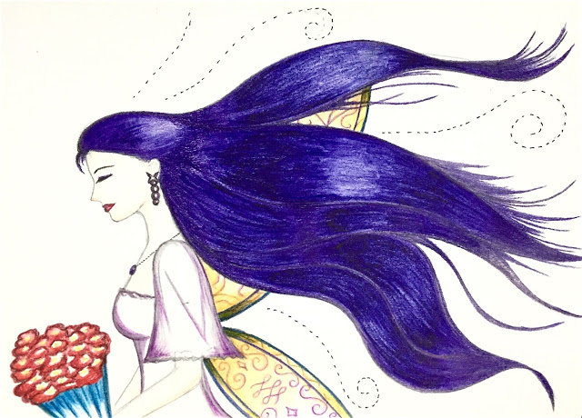 colored-drawing-lady-and-flowing-hair