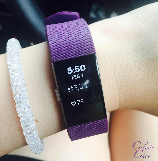 Fitbit charge 2 heart rate tracker and swarovski bracelet